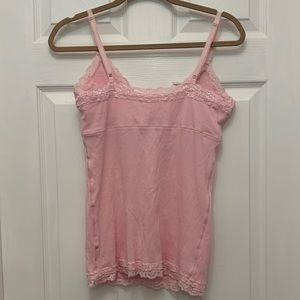 aerie Tops - Aerie - Pink Ribbed Tank Top